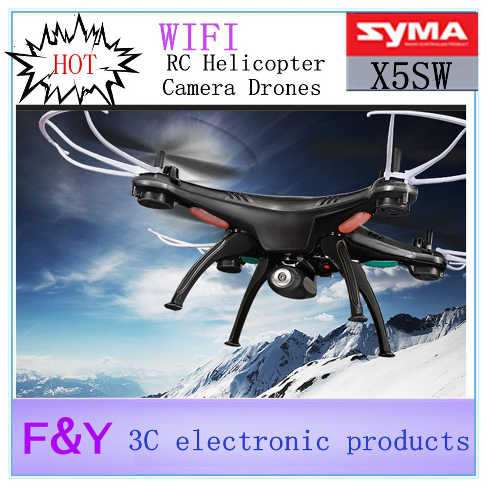 New arrival Original SYMA X5SW WIFI RC Drone fpv Quadcopter with HD Camera 2.4G 6-Axis Real Time RC Helicopter Quad copter Toys(China (Mainland))