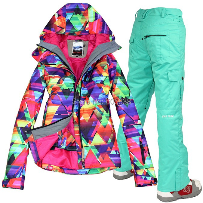 FREE SHIPPING!!!ski suits women's jacket+pants,snowboard clothes,snowboarding skiing jackets Waterproof Windproof Breathable(China (Mainland))