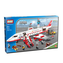 GUDI 334 pcs Plane Toy Air Bus Model Airplane Building Blocks Sets Model DIY Bricks Classic Toys(China (Mainland))
