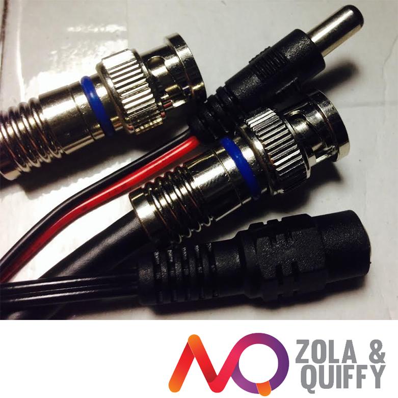 250'POWER+VIDEO SIAMESE CCTV CAMERA CABLE RG-59U/18-2 Plug-Play BNC Compression(China (Mainland))