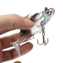 Hot sale Paillette Fishing Lure 7.6cm Artificial Soft bait Carp Crankbait with Treble Tackle Hooks Fishing accessories