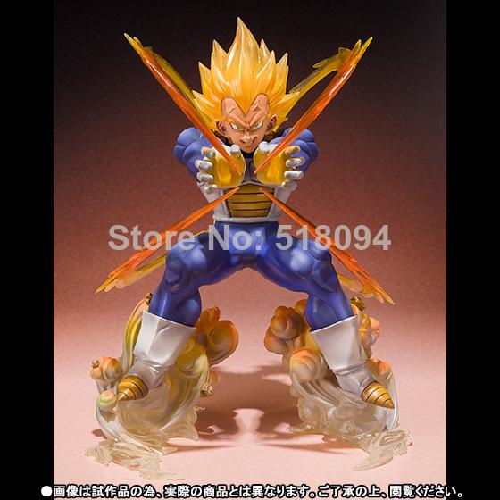 Anime Dragon Ball Z Super Saiyan Vegeta Battle State Final Flash PVC Action Figure Collectible Model Toy 15CM(China (Mainland))