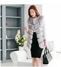 New 2014 Winter Coat Women Import Whole Peel Fox Fur Vest High-Grade Cappa Fur Coat Leisure Shitsuke Women Coat Size:S-XXXXL(China (Mainland))