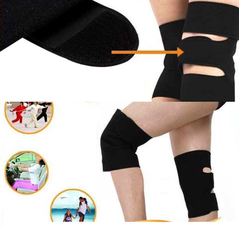 2 Pcs Knee Brace Support Spontaneous Heating Protection Magnetic Therapy Belt Knees Pads On Sale(China (Mainland))