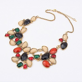 Min order is 10usd (mix order) Retro Gorgeous Beauty Gemmed choker necklace wholesale !! Free shipping ---Swantones SW