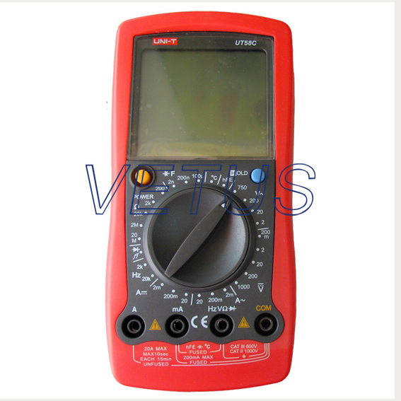 UT58Cdigital UNIT Multimeter With ACA range 2mA/200mA/20A(China (Mainland))