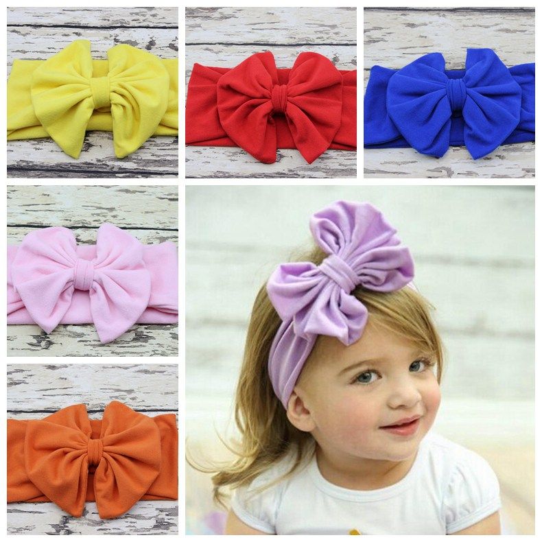 new baby hair accessory Head wrap Blended cotton fabric Headwrap Big Bow head band stretchy Turban Twist flower Hairband FD6542(China (Mainland))