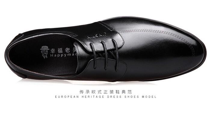 Мужчины обувь мужчины бизнес случайный Оксфорд обувь Свадьба Обувь натуральная кожа мужчин плоские туфли марки мужской кожаный
