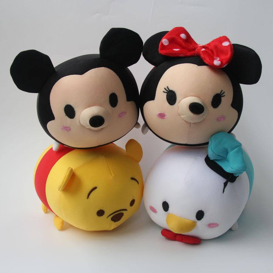 "23cm 9"" Tsum Tsum Plush Toy Mickey Winnie Donald Duck Minnie Tsum Tsum Mini Doll juguetes peluche jouet(China (Mainland))"