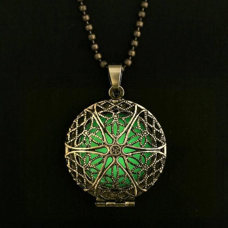Steampunk Antique Bronze Magic Round Locket Glow