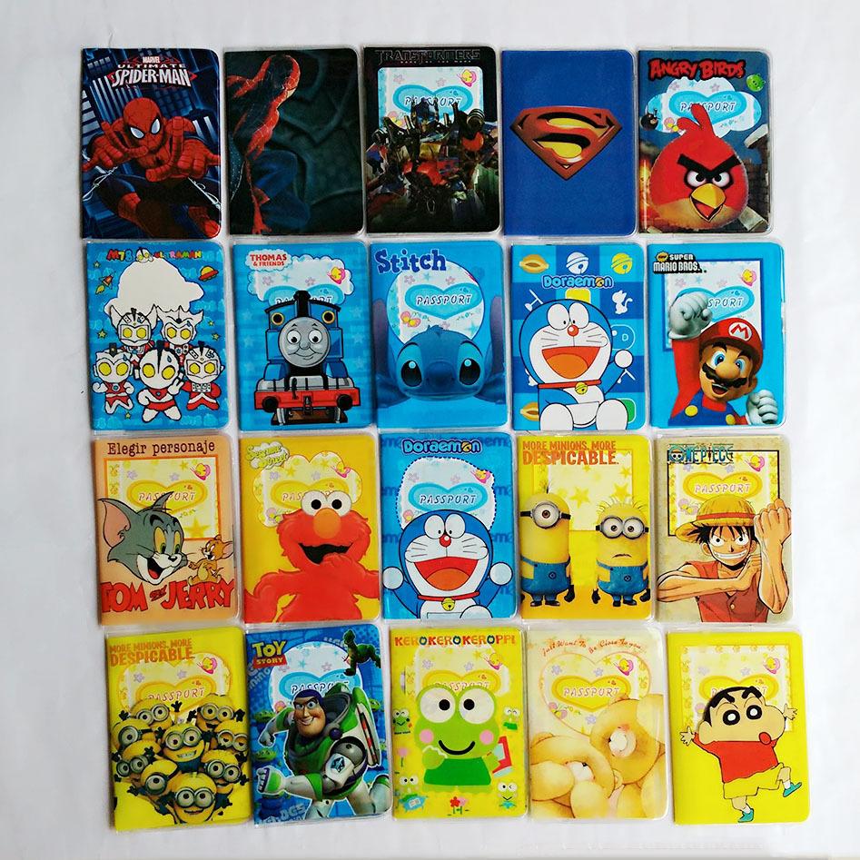 Cartoon spider man Passport Cover ID Credit Card Holder 3D Design PVC Leather Business Card Bag Passport Holder 14*9.6CM(China (Mainland))