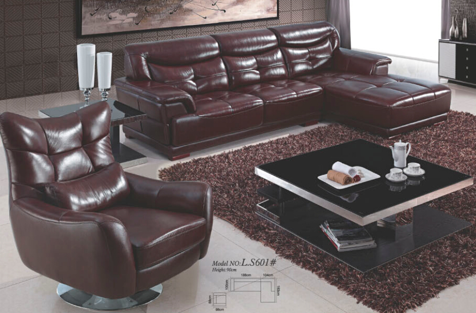 coffee leather sofa sectional sofa livingroom furniture modern colorful home remodeling 0411-a5(China (Mainland))