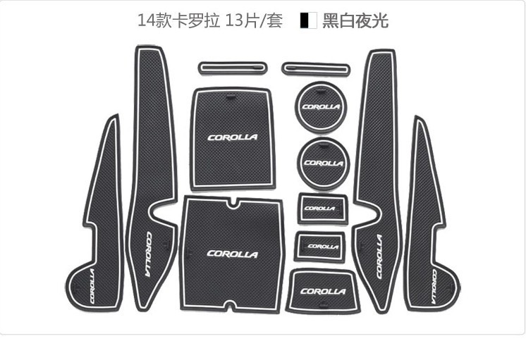 MT-08 case for Toyota corolla 2014 corolla car interior accessories car mat Free Shipping 3 color 13pcs(China (Mainland))