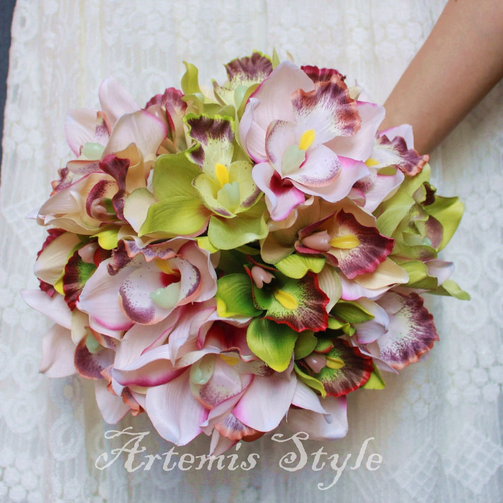 Pink Cymbidium Orchid Bouquet