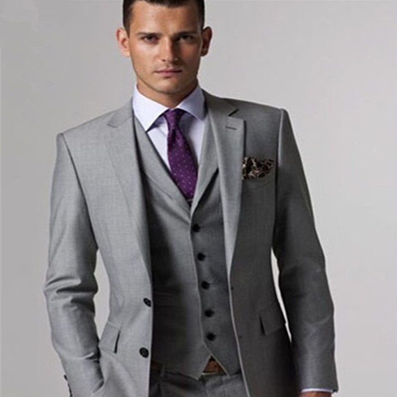 Popular Luxury Mens Grey Suits-Buy Cheap Luxury Mens Grey Suits