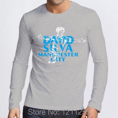 New 2014 Manchester City David Silva Funny Men 39 S T Shirt
