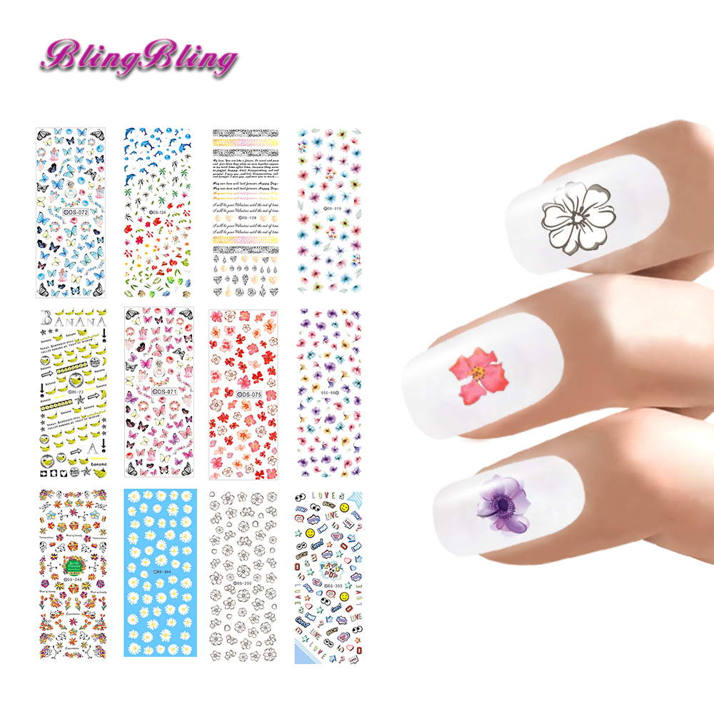 Aliexpress.com : Buy Pretty Girl Nail Art Stickers Decals ...