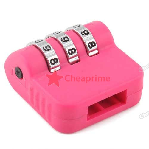 CheapRime Shop 3 Digit USB Flash Drives Disk Security Combination Lock(China (Mainland))