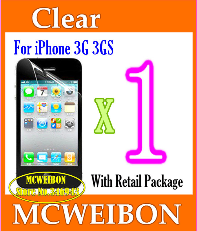 Clear Glossy Screen Protector de pantalla projector cover screen guard iPhone 3G 3GS,Mobile Protective Lcd Film Phone - Shenzhen Mcweibon Technology Co., Ltd. store