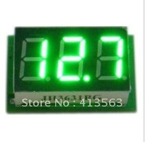 DC Mini Digital Voltmeter DC 0-100V green LED Slim Digital Panel Meter with Ear Car Motorcycle Battery Monitor Voltmeter#00006(China (Mainland))