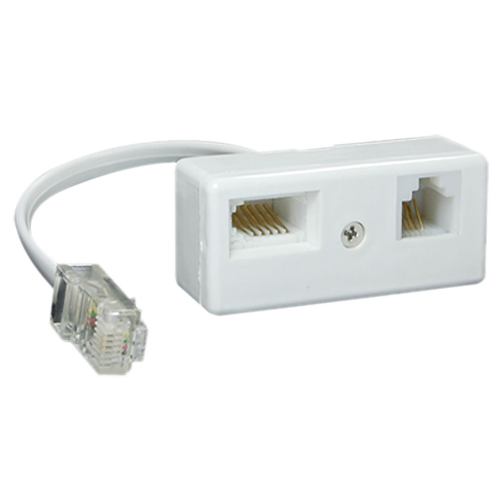 WSFS Hot Sale RJ45 Plug to BT RJ11 Secondary Splitter Telephone Adapter(China (Mainland))