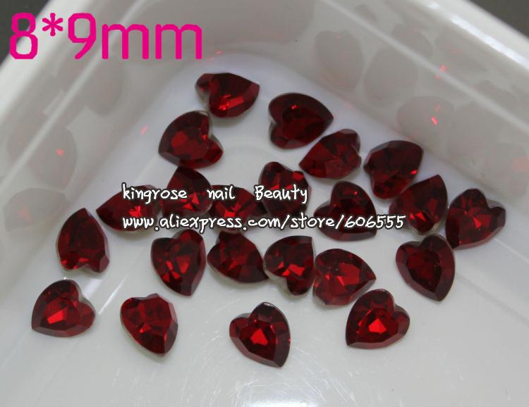 TA164 NEW 3D glass Rhinestone for Nail Jewelry Nail Art Stones 9mm*8mm 10pcs/lot Glitter Nail Stuff free shipping(China (Mainland))