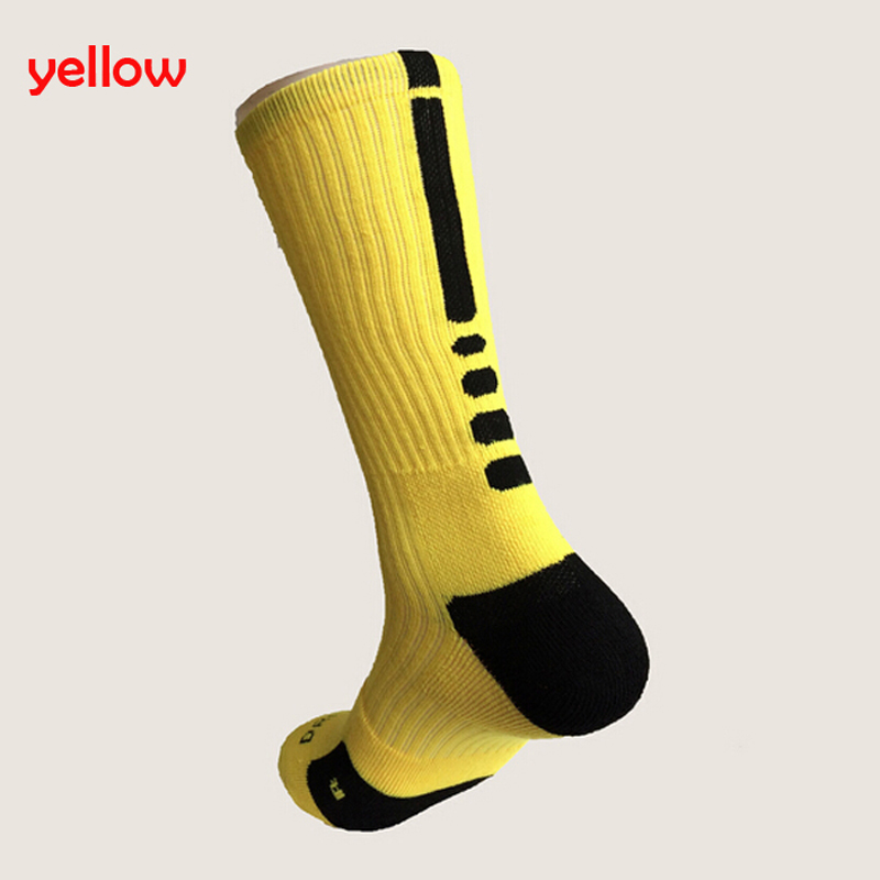 1 Pair 2016 Basketball Football Cup Elite Socks Fashion Thicken Towel Outdoor Sports Athletic Sport Socks For Men 6 colors(China (Mainland))