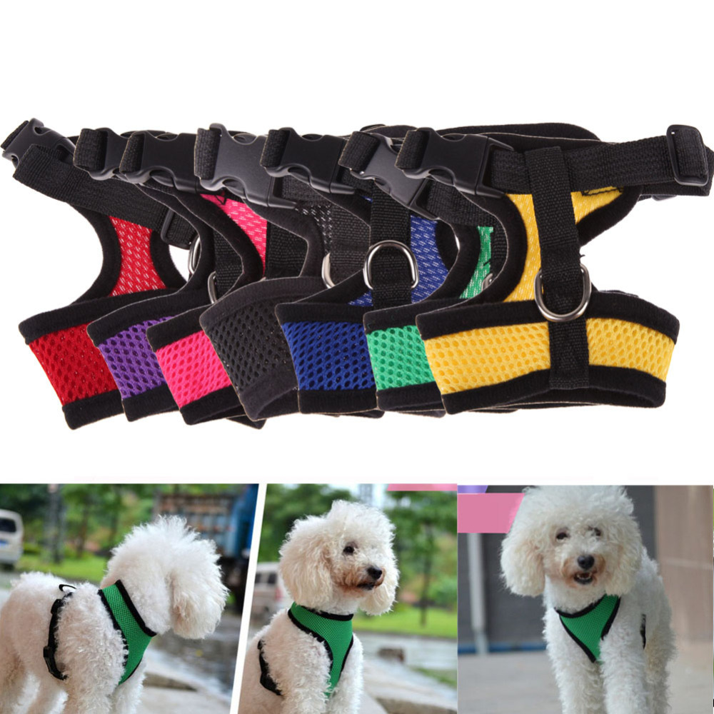 Adjustable Comfort Soft Breathable Dog Harness Pet Vest Rope Dog Chest Strap Leash Set Collar Leads