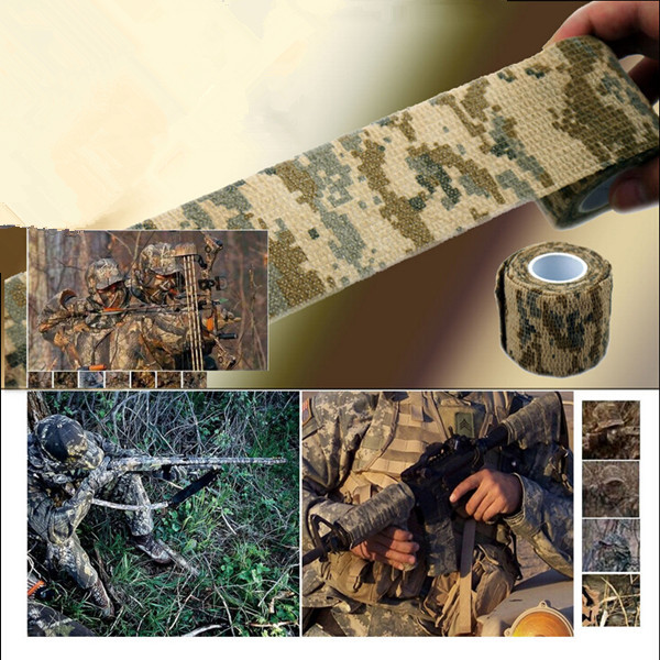 Hunting Camouflage Tape Roll Camo Stretch Bandage Camping Gun Cloths Hot NEW 1pcs(China (Mainland))