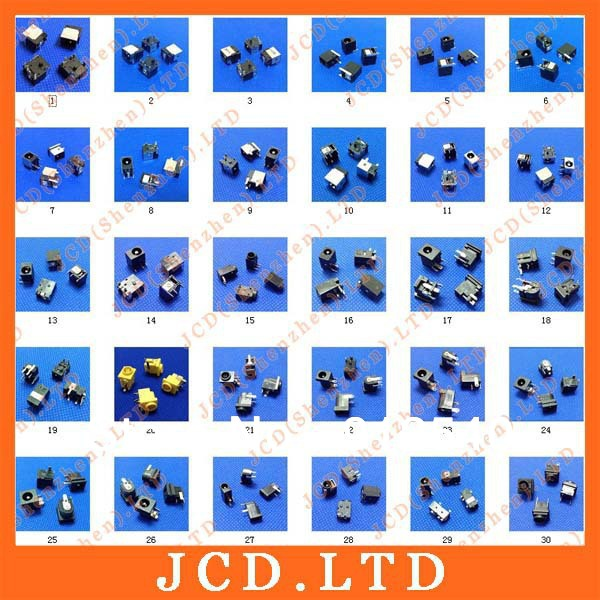 Sample package:60models,120ps Tablet PC MID/Laptop DC Power Jack Connector for Samsung/Asus/Acer/HP/Toshiba/Dell/Sony/Lenovo/...(China (Mainland))