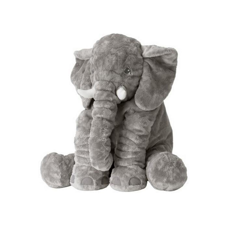 60cm Baby Kids Long Nose Elephant Pillows Soft Plush Stuff Toy Animals Dolls Appease Sleep Pillow Educational Toys for Newborn(China (Mainland))
