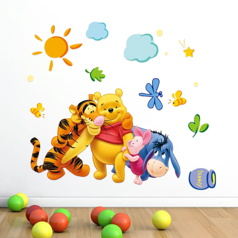 Hot Sale 2014 Cute Animal Cartoon For Kids Rooms Wall Paper Bedroom Accessories Wallpapers Children Wall Sticker Free Shipping(China (Mainland))
