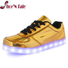 Shoe'N Tale 7 colors Light Up for men and women fashion high quality LED flashing lights USB interface yeezy shoes couple shoes(China (Mainland))