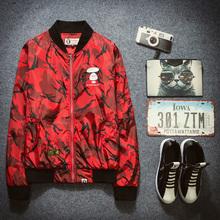 2016 new spring spring jacket men jacket camouflage coat printing baseball uniform jacket men(China (Mainland))