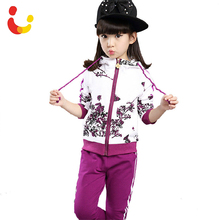 2016 Spring Baby Girls Clothes Jacket Floral Kids Hoodies+Pants Kids Tracksuit For Girls Clothing Sets Girls Sport Suit 291(China (Mainland))