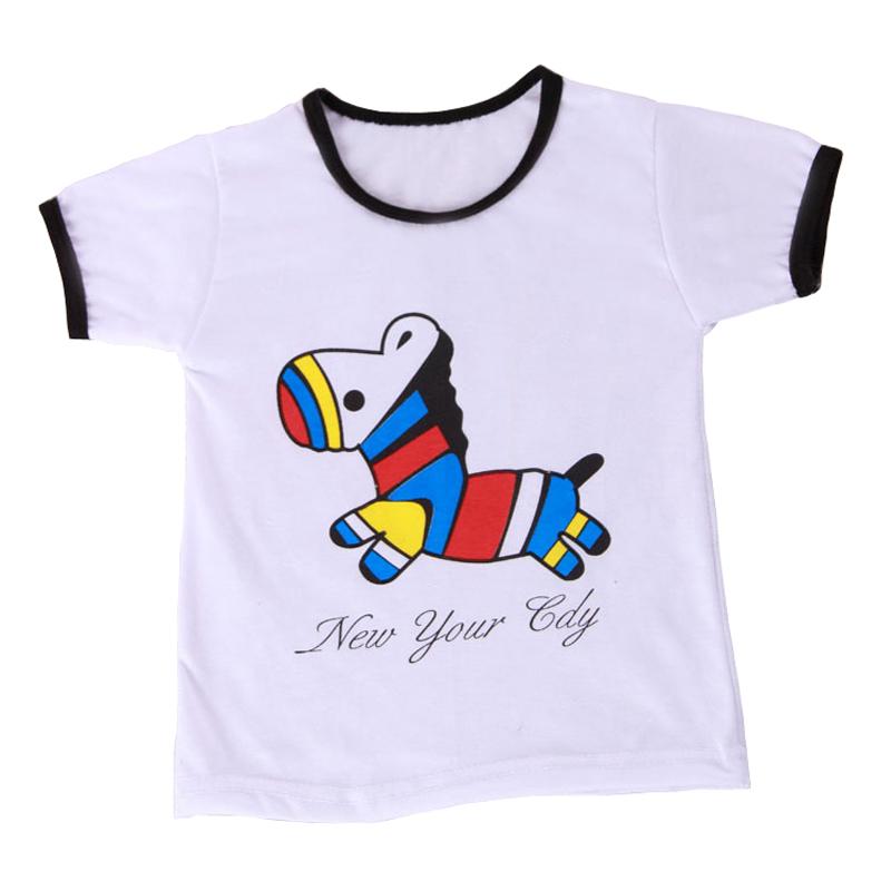 Newest Item Boys Girls T Shirt Cartoon Dinosaur Four Style T-Shirts Short Sleeve Children's Clothing Kids Baby Summer Tops(China (Mainland))