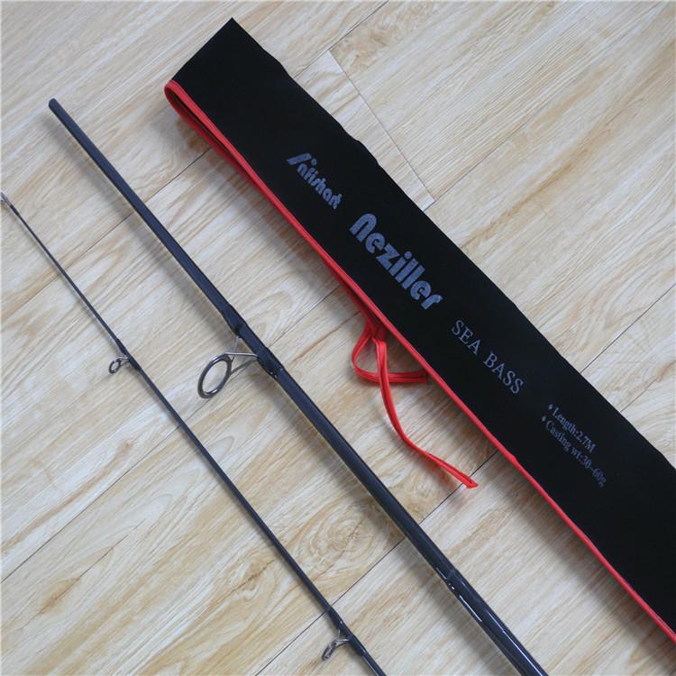 1pc Top quality 2.7m Sea Bass MH Lure rod baitcasting fishing rod high carbon fishing rod soft handle good quality free shipping