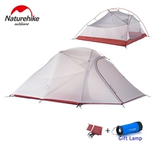 1.8KG Naturehike Tent 3 Person 20D Silicone Fabric Double Layers Rainproof Camping Tent NH Outdoor Tent 4Season(China (Mainland))