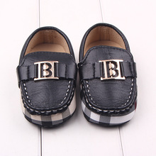 New Fashion Handsome Newborn Baby Kids Boy PU Leather First Walkers Shoes Infant Crib Babe Classic Leisure Soft Soled Loafer(China (Mainland))