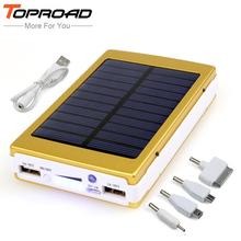 Portable Power Bank 12000mAh Solar Charger Powerbank External Battery carregador portatil para celular for iPhone 6s Cellphones(China (Mainland))