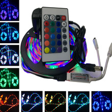 Buy RiRi won 5m SMD RGB LED Strip LED light 3528 flexible led tape diode ribbon waterproof 24keys controller DC 12V adapter set for $7.20 in AliExpress store