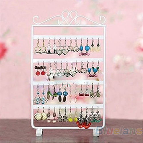 48 Holes Display Rack Metal Stand Holder Closet Jewelry Earrings Organizers Showcase Packaging & Display Wholesale 02CS 38YZ(China (Mainland))