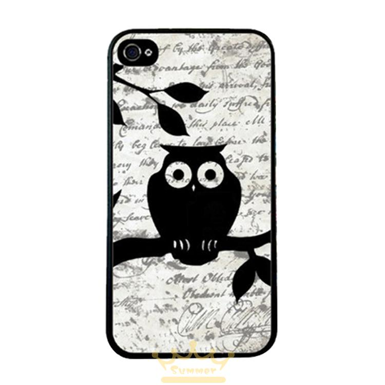 Animal Black Owl Retro Picture back skin cellphone case cover for iphone 4 4s 5 5s 5c SE 6 6s plus ipod touch 4/5/6(China (Mainland))