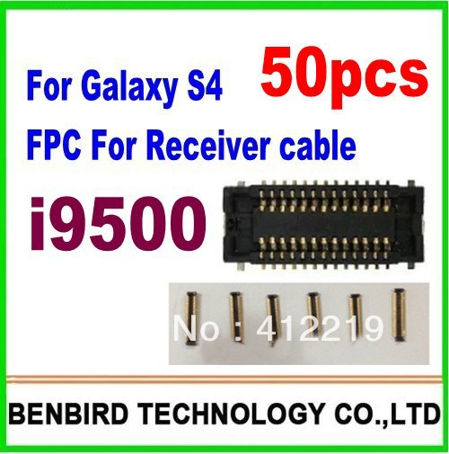 50 pcs guaranttee FPC connector for Galaxy s4 i9500  receiver cable on motherboard logic board YL583