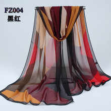 new arrival 2017 spring and autumn chiffon women scarf geometric pattern design long soft silk shawl 004(China (Mainland))