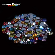 Hotfix Rhinestones Crystal Rhinestone Mixed Colors With Glue Backing Iron On Perfect For Clothes Shoes Dresses DIY(China (Mainland))