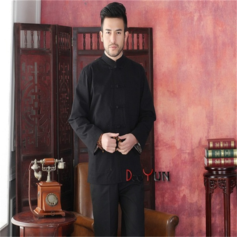 Free Shipping Novelty Black Mens Tang Suit Classic Chinese Style Top Hidden Dragon Jacket Button Coat S M L XL XXL XXXLОдежда и ак�е��уары<br><br><br>Aliexpress