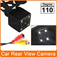 Free Shipping! 110 Degree Night Vision 4 LED Waterproof Car Rear View Camera Reverse Backup Camera