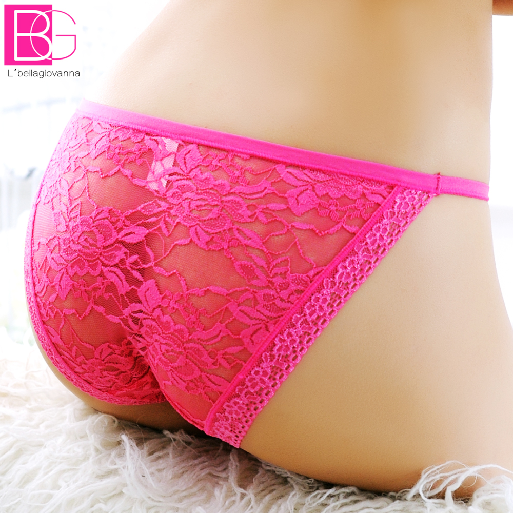 Wholesale New Women Lace Bikini Elastic Floral Lace Seamless Women Briefs Transparent Sexy Underwear Women Female Panties bragas(China (Mainland))