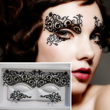 Fashion 1 Pairs Eye Tattoos Eyeliner Eye Shadow Sticker Makeup Tools Easy Use Cosmetic Products For Party(China (Mainland))